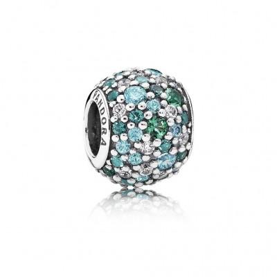 Pandora Ocean Mosaic Pavé, Mixed Green CZ & Green Crystal