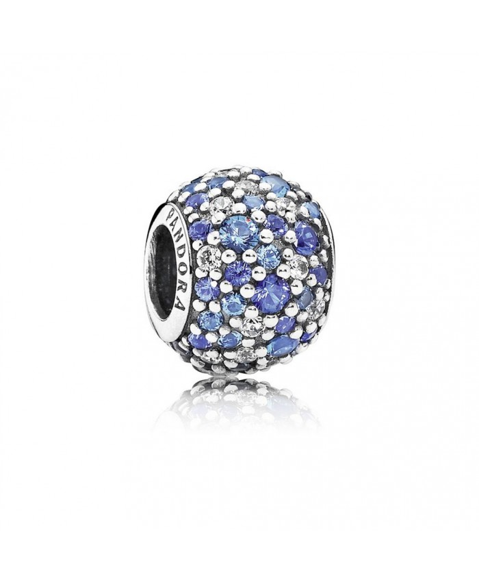 Pandora Sky Mosaic Pavé, Mixed Blue Crystals & Clear CZ