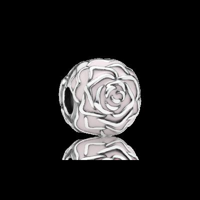 Pandora Rose Garden Clip, Pink Enamel