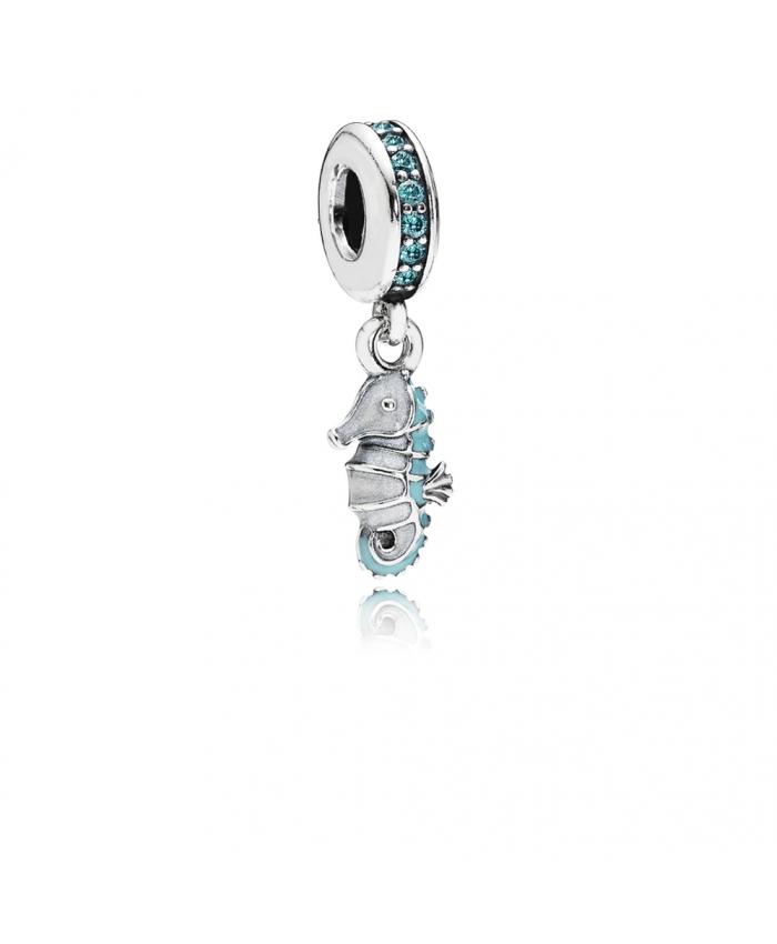 Pandora Tropical Seahorse, Teal CZ & Turquoise Enamel