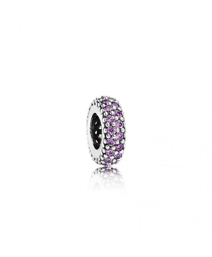 Pandora Inspiration Within Spacer, Purple CZ