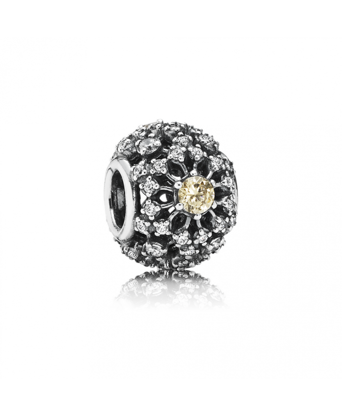 Pandora Inner Radiance, Golden-Colored & Clear CZ