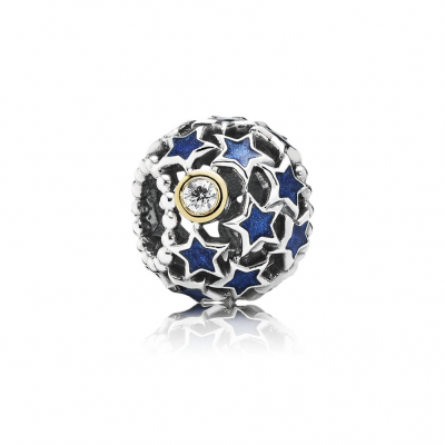 Pandora Night Sky, Blue Enamel & Clear CZ