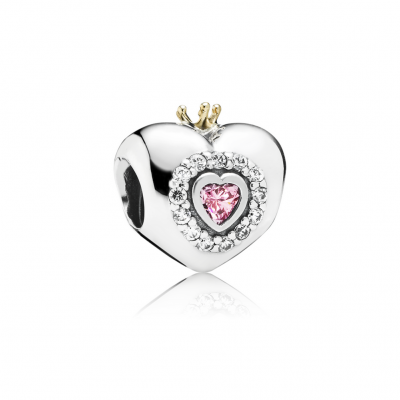 Pandora Princess Heart, Pink CZ
