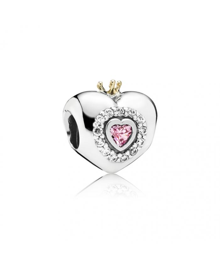 Pandora Princess Heart, Pink CZ