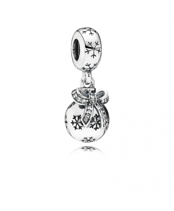 Pandora Christmas Ornament, Clear CZ