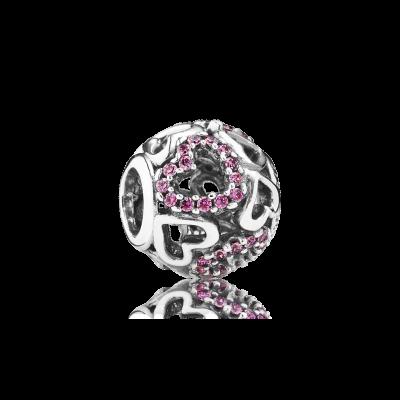 Pandora Falling In Love, Fancy Pink CZ