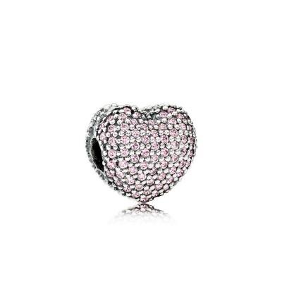Pandora Pavé Open My Heart, Pink CZ