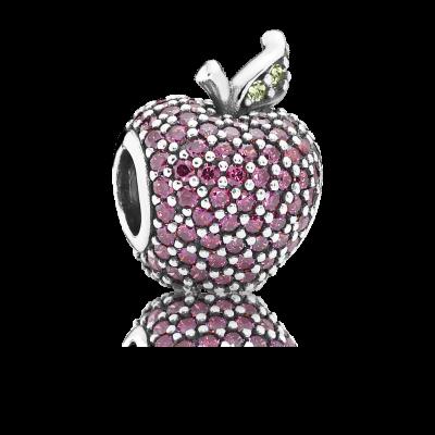 Pandora Red Pavé Apple, Fancy Red CZ & Green Crystal