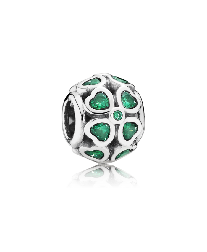 Pandora Green Lucky Clover, Dark Green CZ