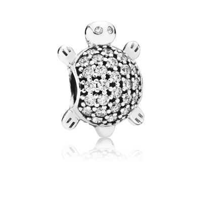 Pandora Sea Turtle, Clear CZ