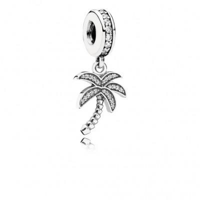Pandora Sparkling Palm Tree, Clear CZ