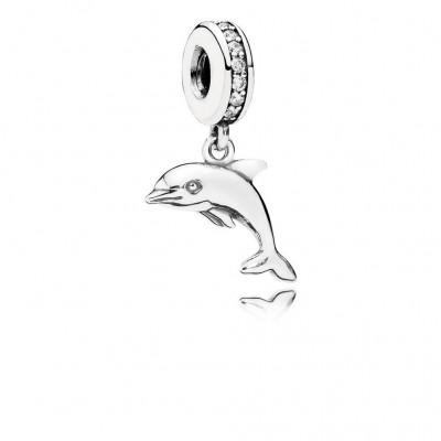 Pandora Playful Dolphin, Clear CZ