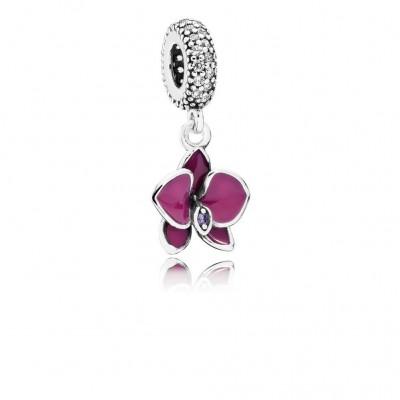 Pandora Orchid, CZ & Radiant Orchid-Colored Enamel