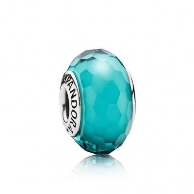 Pandora Fascinating Teal, Murano Glass