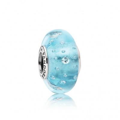 Pandora Blue Effervescence, Clear CZ