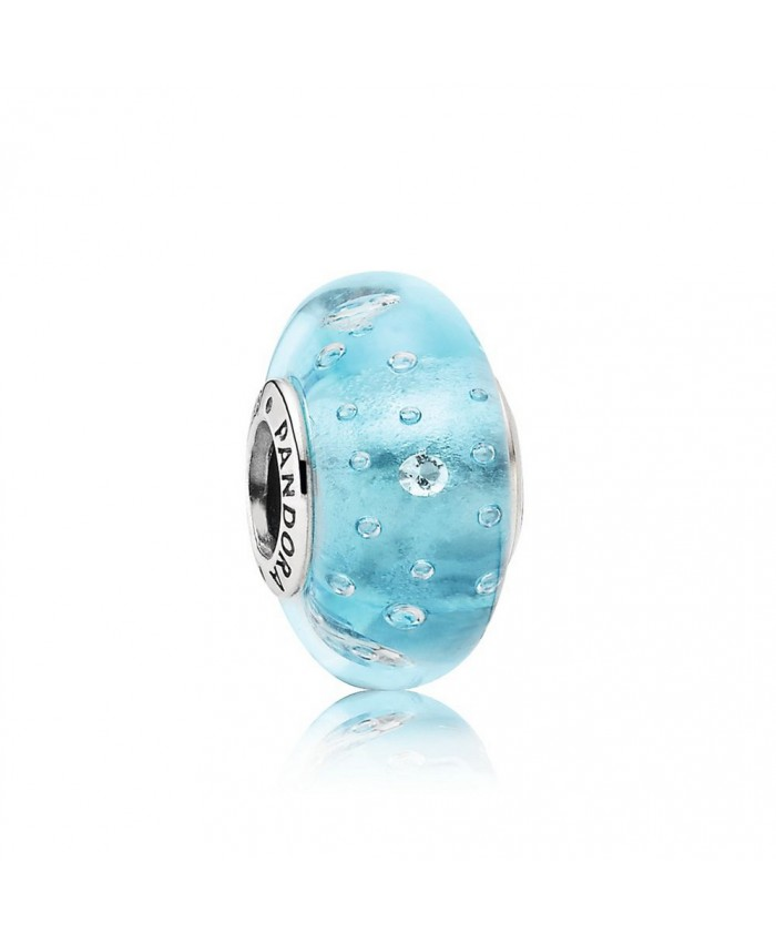 Pandora Blue Effervescence, Clear CZ