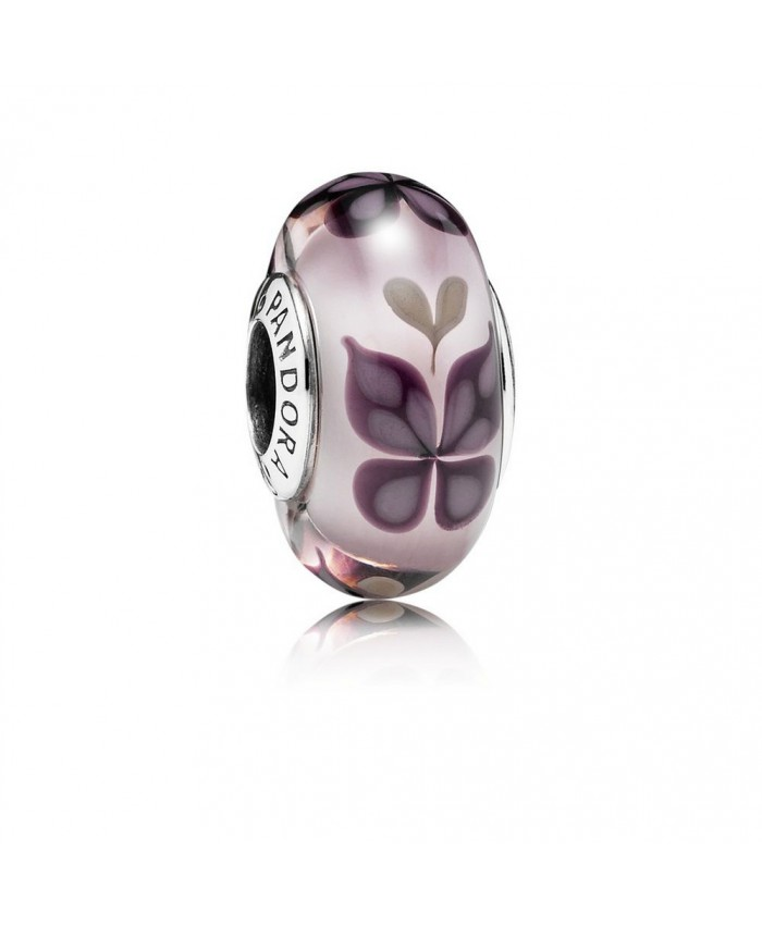 Pandora Pink Butterfly Kisses, Murano Glass