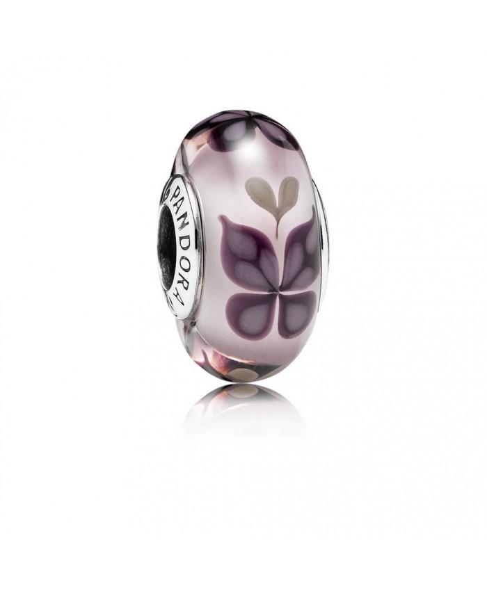 Pandora Pink Butterfly Kisses, Murano Glass