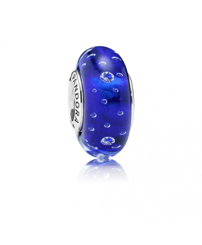 Pandora Dark Blue Effervescence, Clear CZ