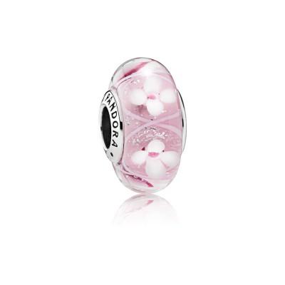Pandora Pink Field of Flowers
