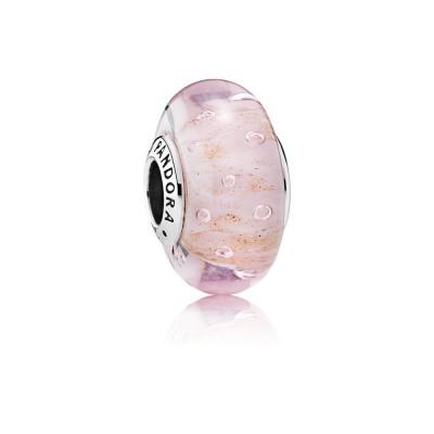 Pandora Pink Glitter, Murano Glass
