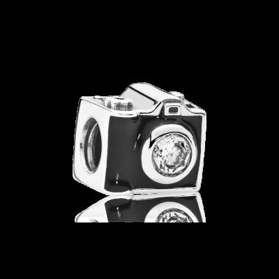 Pandora Sentimental Snapshots, Clear CZ & Black Enamel