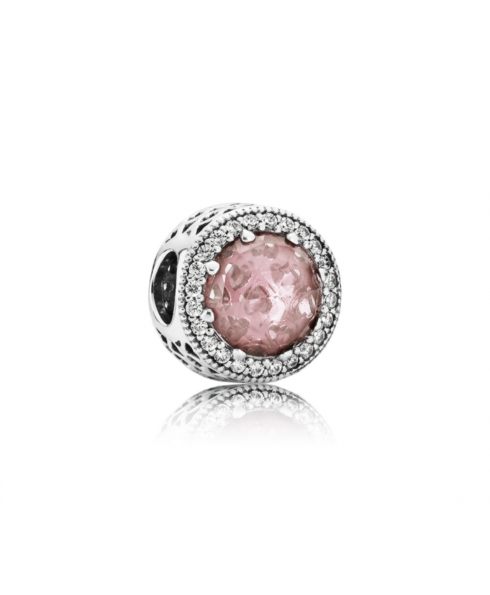 Pandora Radiant Hearts, Blush Pink Crystal & Clear CZ