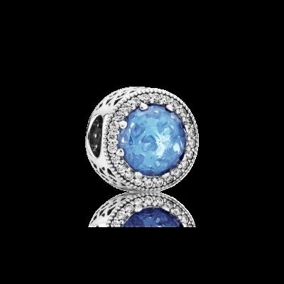 Pandora Radiant Hearts, Sky-Blue Crystal & Clear CZ