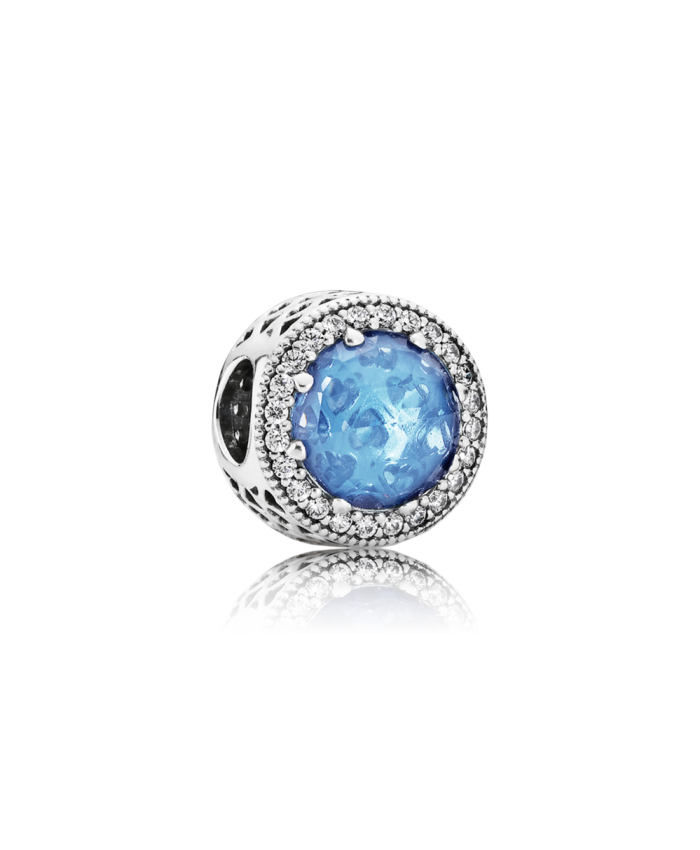 Pandora Radiant Hearts, Sky-Blue Crystal & Clear CZ