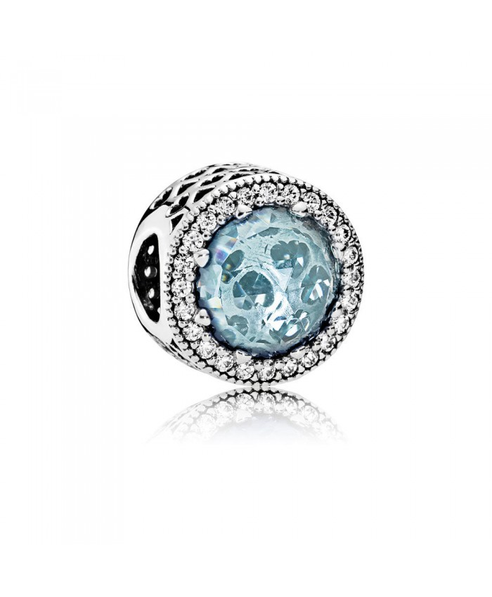Pandora Radiant Hearts, Glacier-Blue Crystals & Clear CZ
