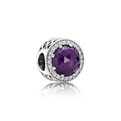 Pandora Radiant Hearts, Royal-Purple Crystal & Clear CZ