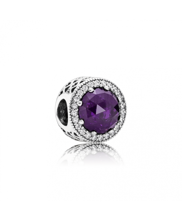 Pandora Radiant Hearts, Royal-Purple Crystal & Clear CZ