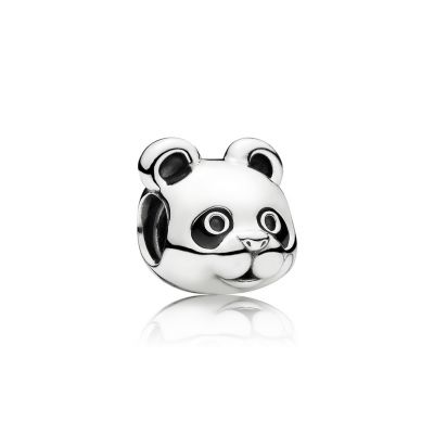 Pandora Peaceful Panda, Black Enamel