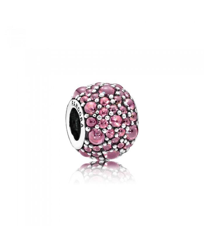 Pandora Shimmering Droplet, Honeysuckle Pink CZ