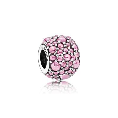 Pandora Shimmering Droplets, Pink CZ