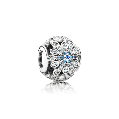 Pandora Crystalized Snowflakes, Blue Crystals & Clear CZ
