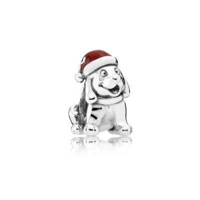 Pandora Christmas Puppy, Red Enamel