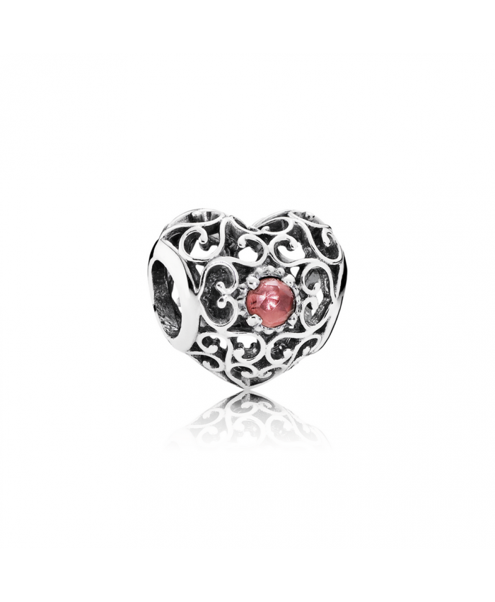 Pandora January Signature Heart, Garnet