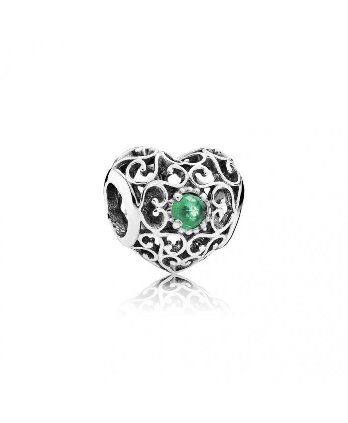 Pandora May Signature Heart, Royal Green Crystal