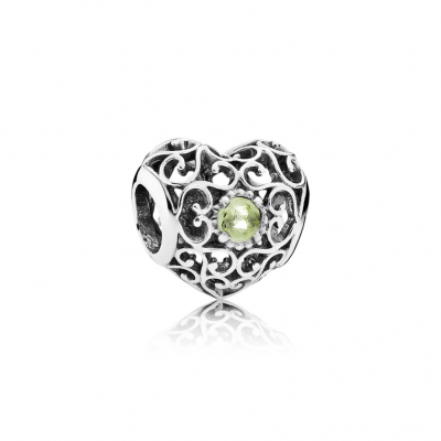 Pandora August Signature Heart, Peridot