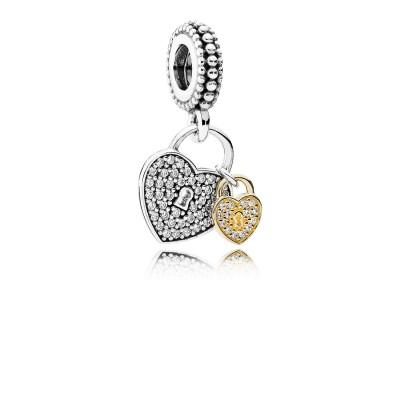 Pandora Love Locks, Clear CZ