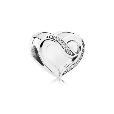 Pandora Ribbon of Love, Clear CZ