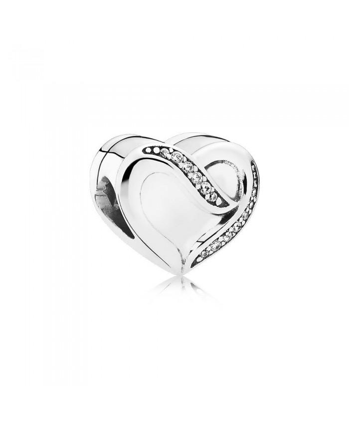 Pandora Ribbon of Love, Clear CZ