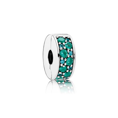 Pandora Mosaic Shining Elegance, Multi-Colored Crystals & Teal CZ