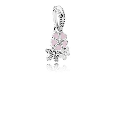 Pandora Poetic Blooms, Mixed Enamels & Clear CZ