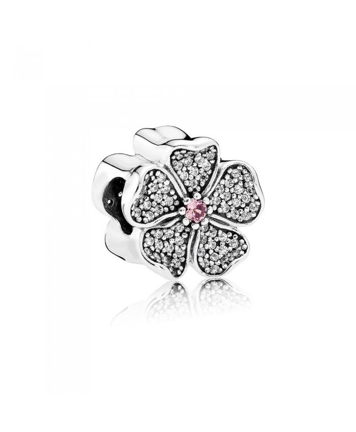 Pandora Sparkling Apple Blossom, Blush Pink Crystal & Clear CZ