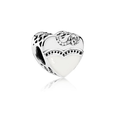 Pandora Our Special Day, Black & White Enamel