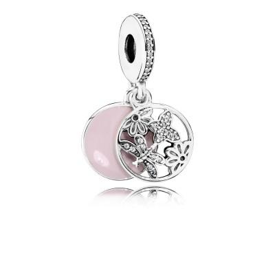 Pandora Springtime, Soft Pink Enamel & Clear CZ