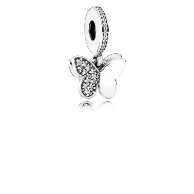 Pandora Fluttering Butterflies, Clear CZ